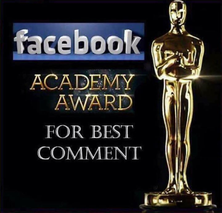 Facebook academy award for best comment