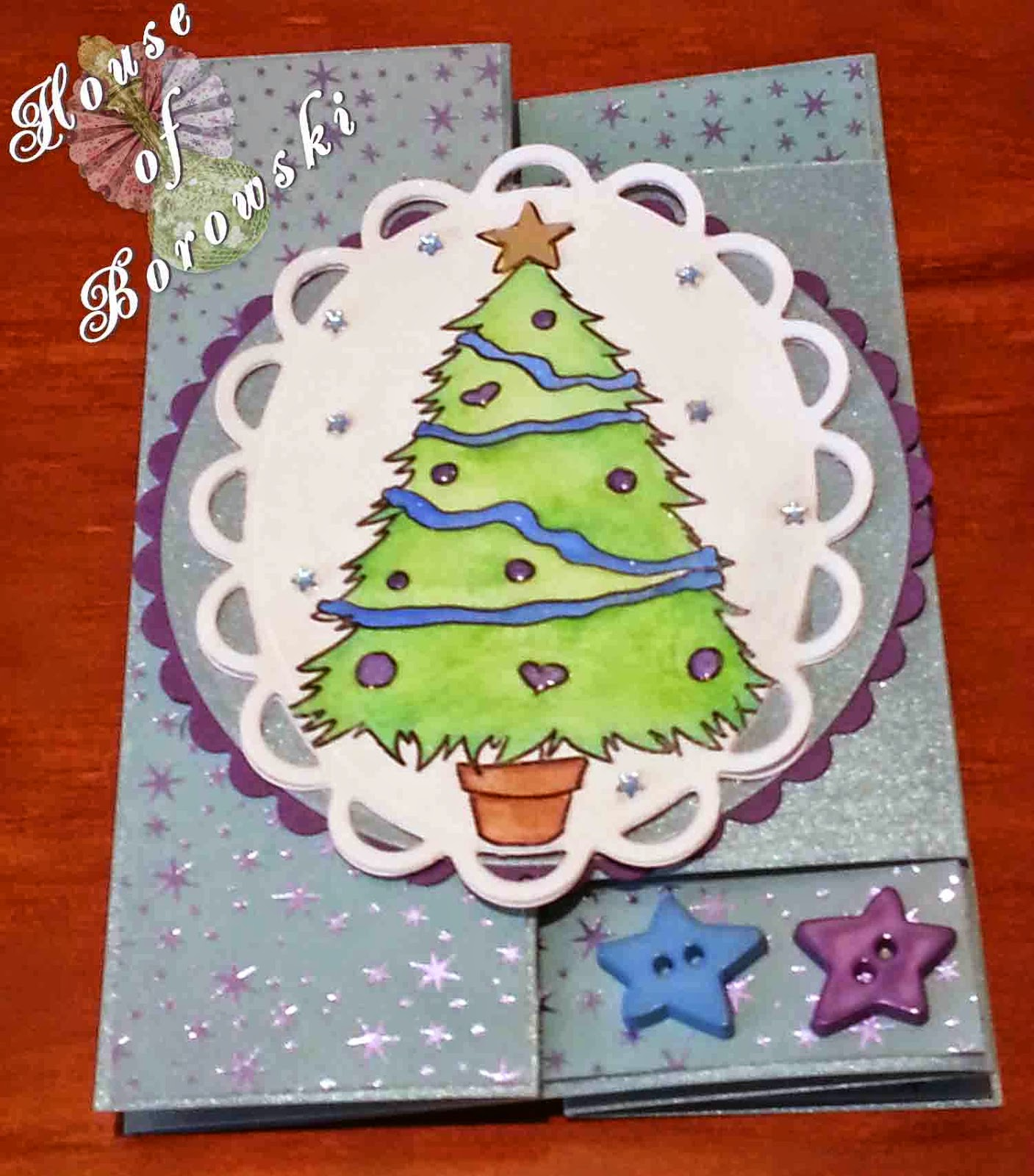 Fitztown, HOB, fitztown winter 4, inktense pencils,spellbinders circles,elizabeth craft merry christmas,kaisercraft,cuttlebug snow fun