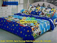 Harga Sprei Sorong Fata Doraemon Uk. 120×200 Jual