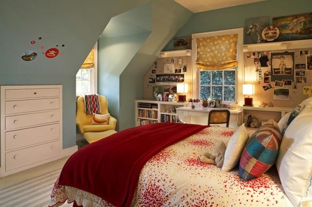 Diseño de Interiores de azul Dormitorios Rojo Amarillo - Interior ...