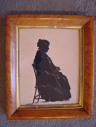 "A silhouette of ""Caky"" for sale: Nanny to Edward Austen Knight's children"