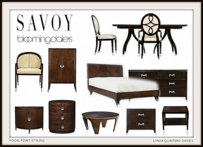 DECO DETAILS TODAY: SAVOY COLLECTION At BLOOMINGDALES