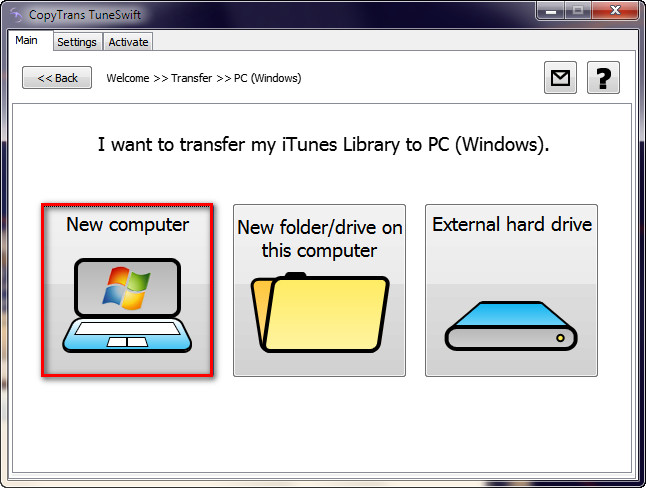 moving iTunes library