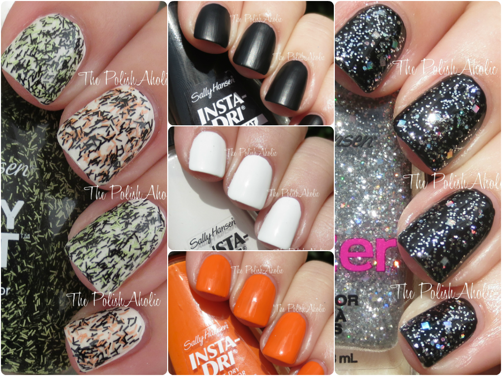 The PolishAholic: Sally Hansen Halloween Themed Nail Polish Swatches ...