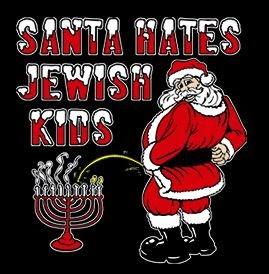 Santa Hates Jewish Kids Shirt