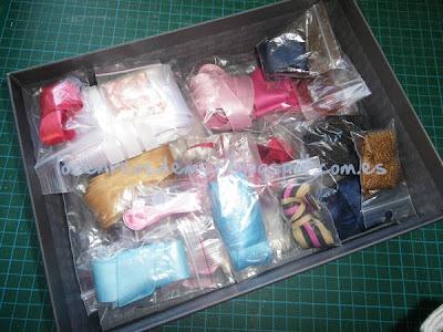 Cintas guardadas en bolsitas de plástico