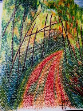 Camino (lápiz acuareleable)