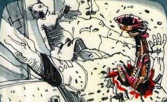 Terrifying Alien Chestburster Storyboards By Ridley Scott Film Sketchr