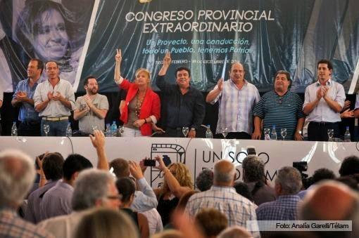 CRISTINA MANDA,  ES LA CONSIGNA DEL CONGRESO DEL PJ DE BUENOS AIRES EN TRES DE FEBRERO