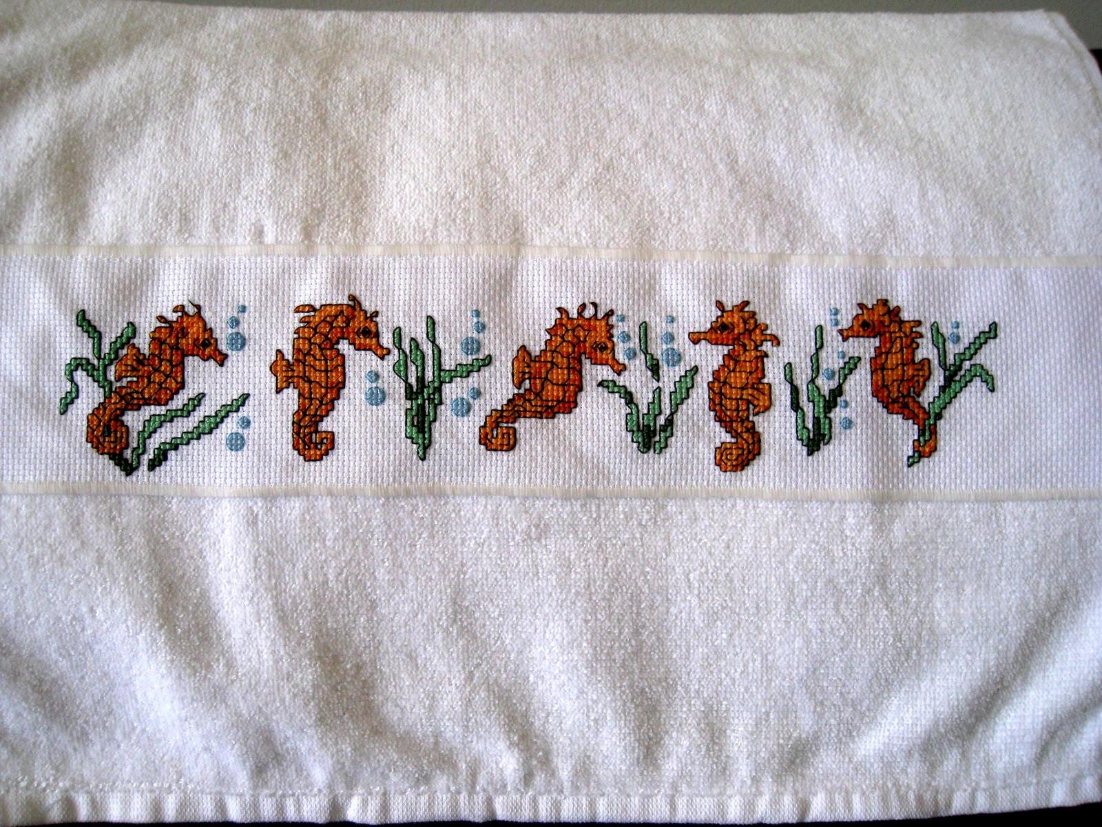 Creaci n punto por punto toallas para cocina en punto de cruz - Motivos en punto de cruz ...