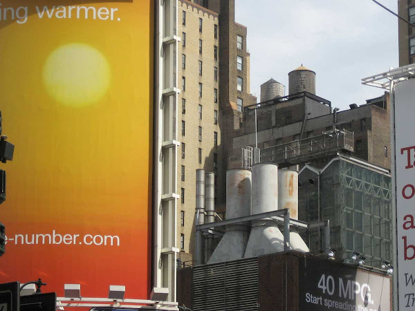 Getting Warmer - Said the ad at Penn Station on 7th Ave. at 33rd St.