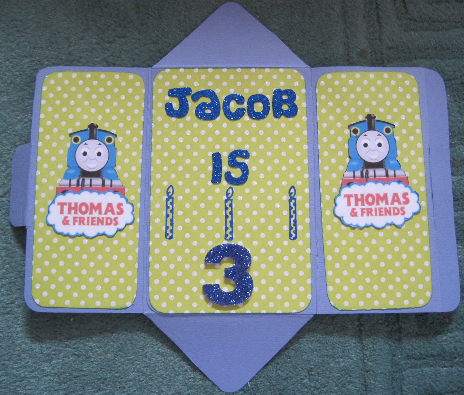 This Is The Birthday Card I Made For Grandson Like Most 3 Year Old Boys He Mad On Thomas Tank Engine And Friends My Husband Found Me Some Fun