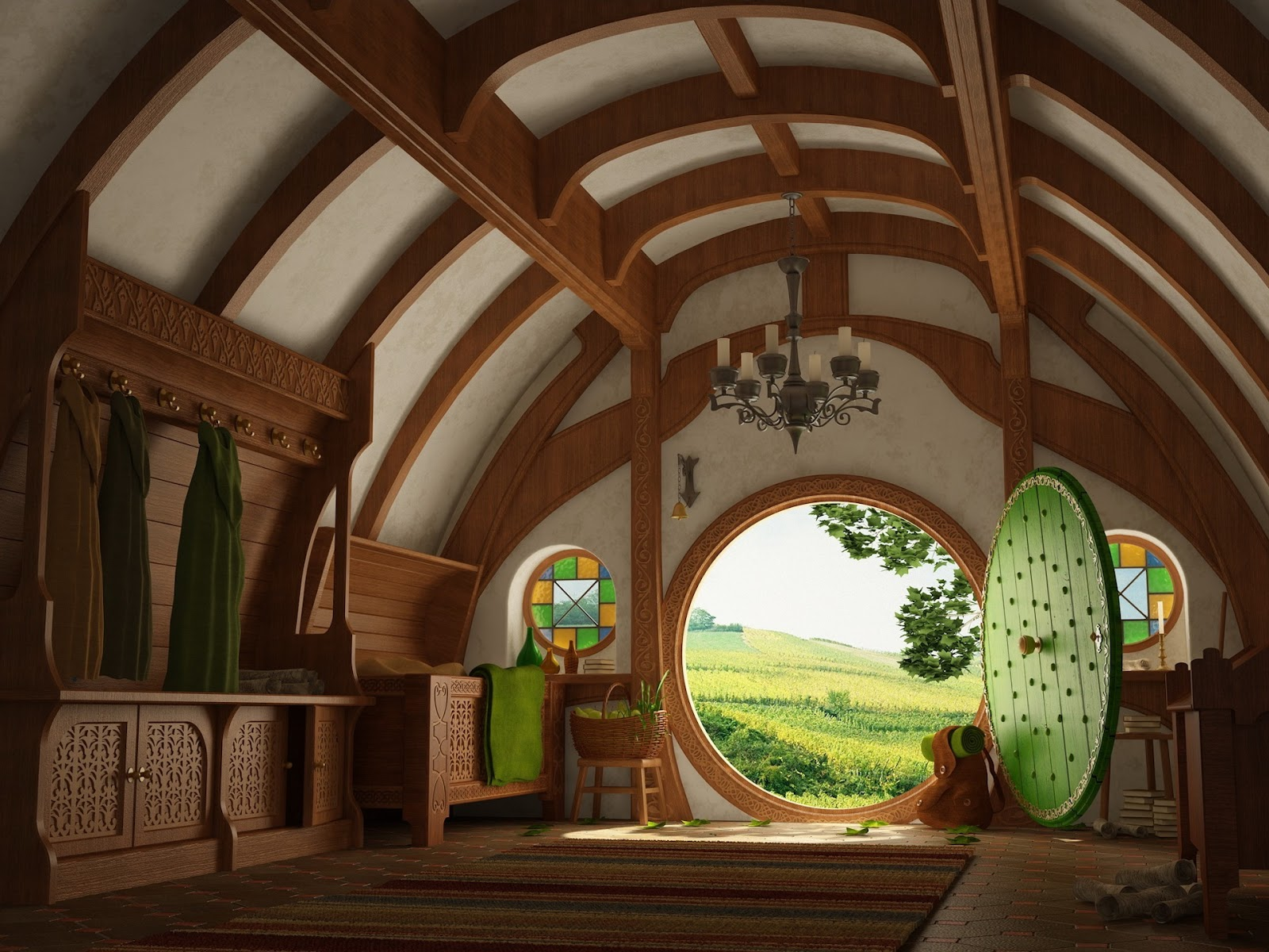 Hobbit House Interior