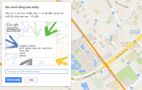 xác minh hiển thị sao cho web trên google
