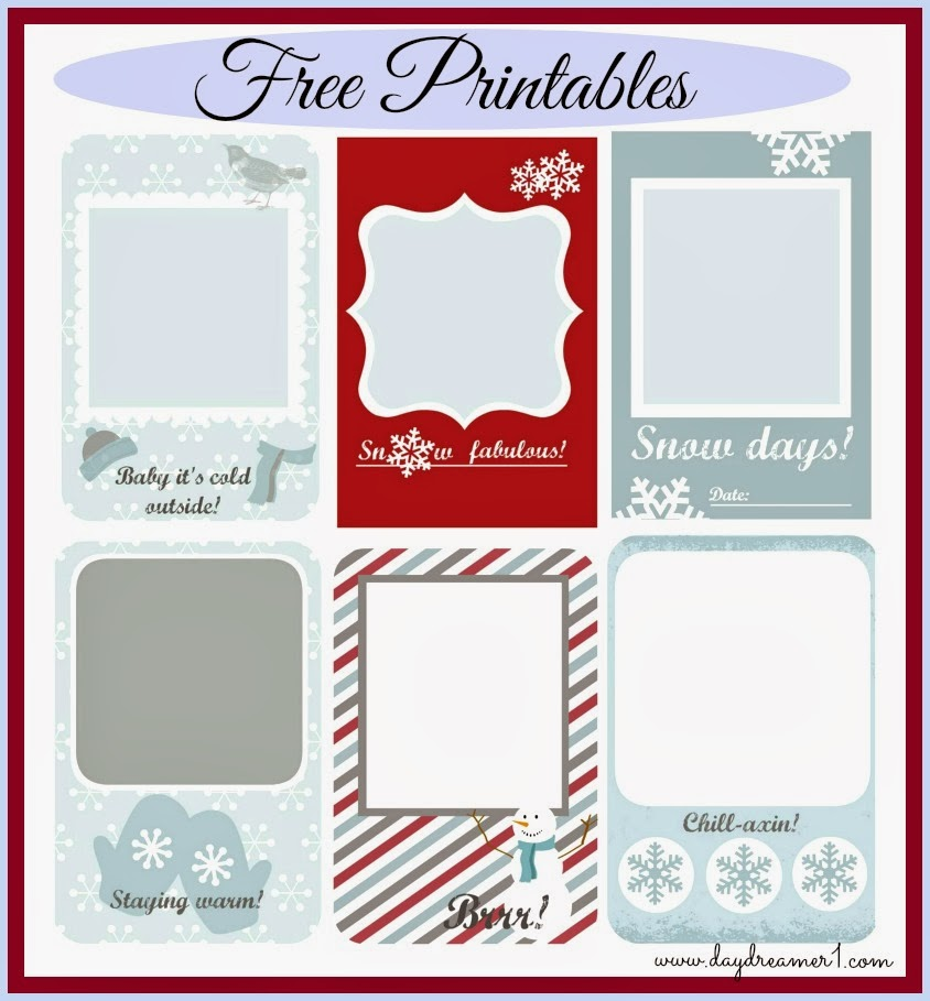 Free Printables Project Life, Filofax, Smash Journals