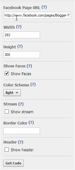 Cara Mudah Membuat Widget Facebook Fan Like di Blog langkah 2