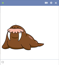 Walrus Facebook sticker