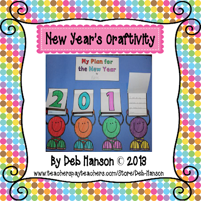 http://www.teacherspayteachers.com/Product/New-Years-Writing-Activity-and-Craftivity-1028242