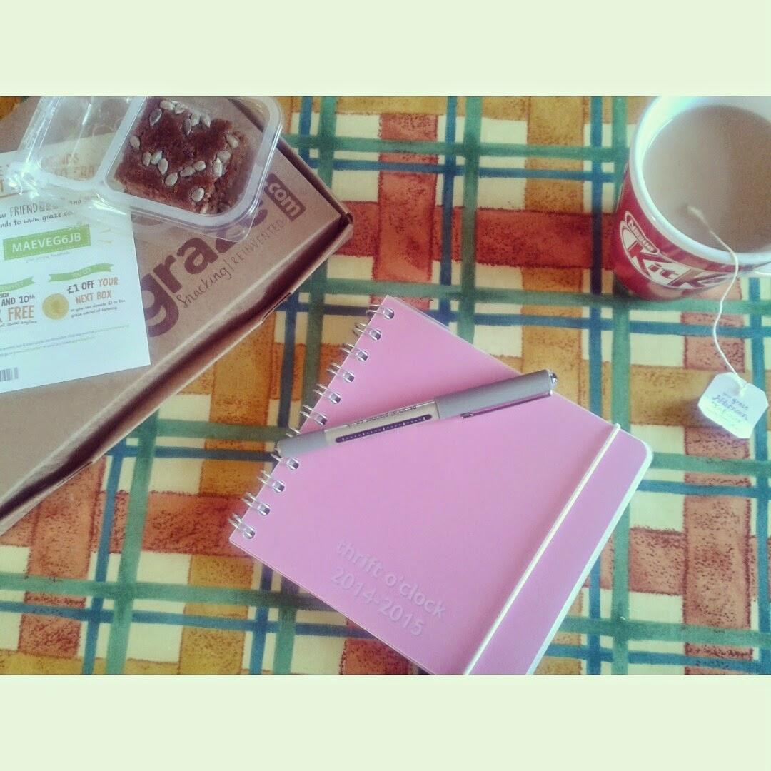graze box personal planner tea sunday summary