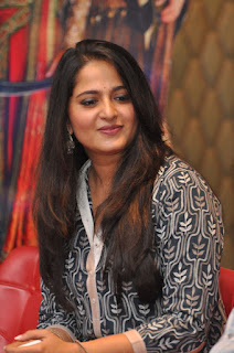 Anushka Shetty Spotted at Rudramadevi Press Meet