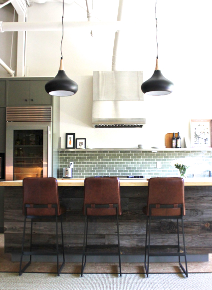 Wine country home designed by krista schrock and david for Country industrial kitchen designs