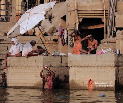 "Ganga ghaat clicked by Isha Trivedi ""Isha Trivedi"" ""Varanasi"""