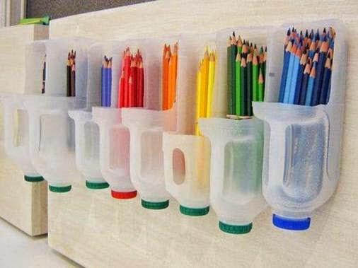 Tempat crayon dari Jerigen bekas