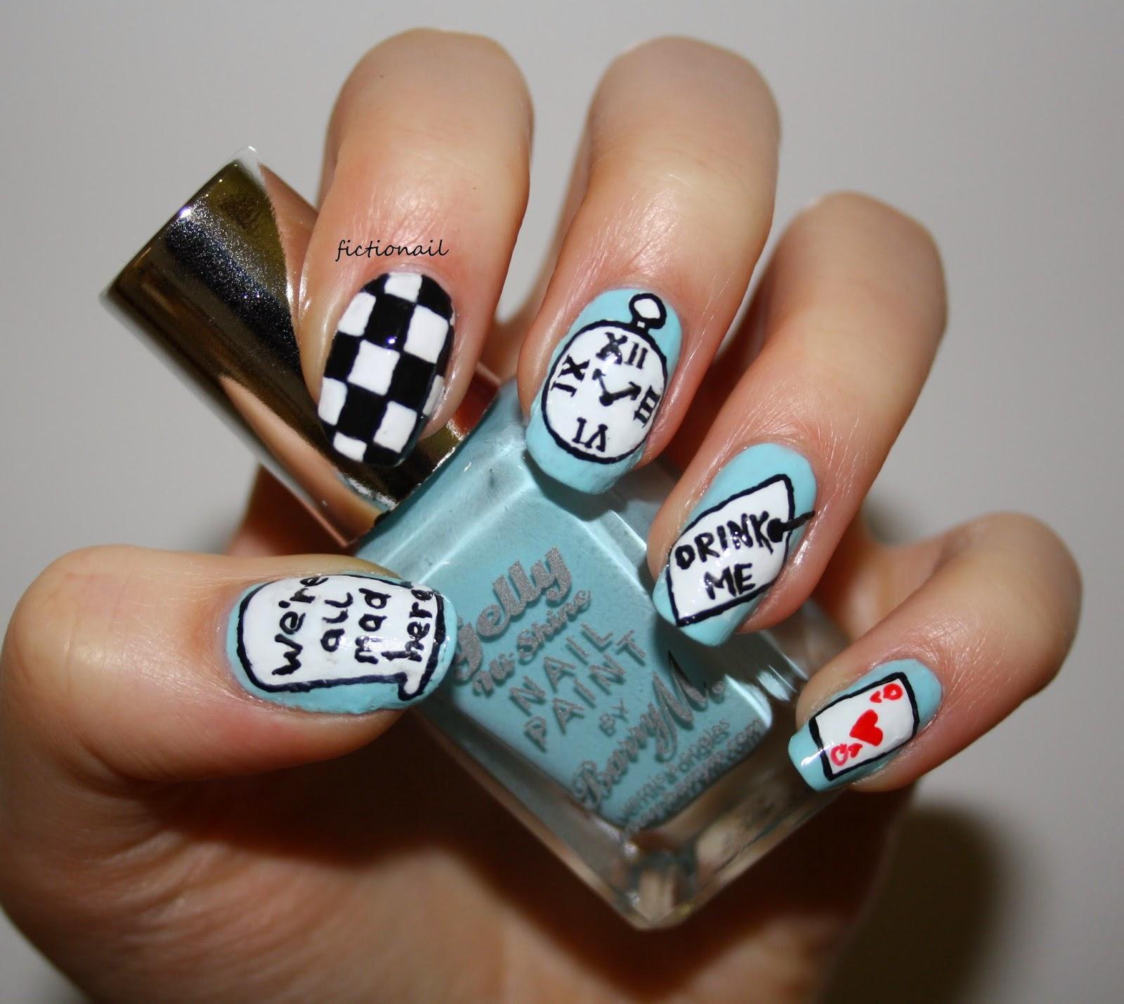 Alice In Wonderland Nails