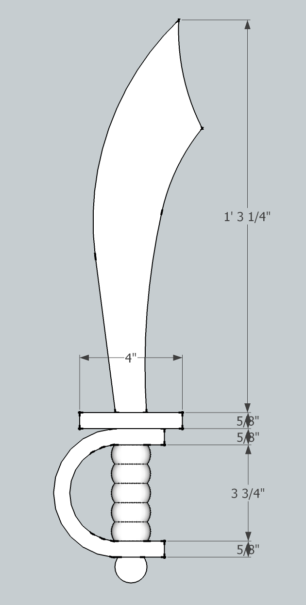 Pirate Sword Templates I drew a template in google