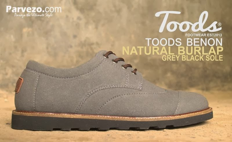 Toods Benon Natural Burlap Grey