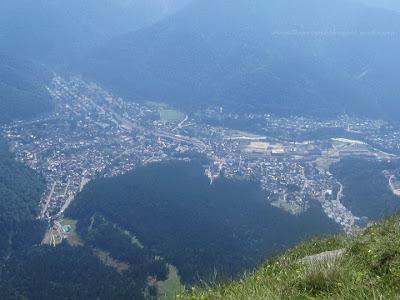 Busteni view, atop of Caraiman Peak, Carpathian Mountains, Romania