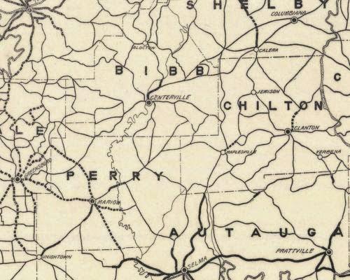 Alabama Yesterdays Pondering Alabama Maps Early State Road Maps - Alabama road map