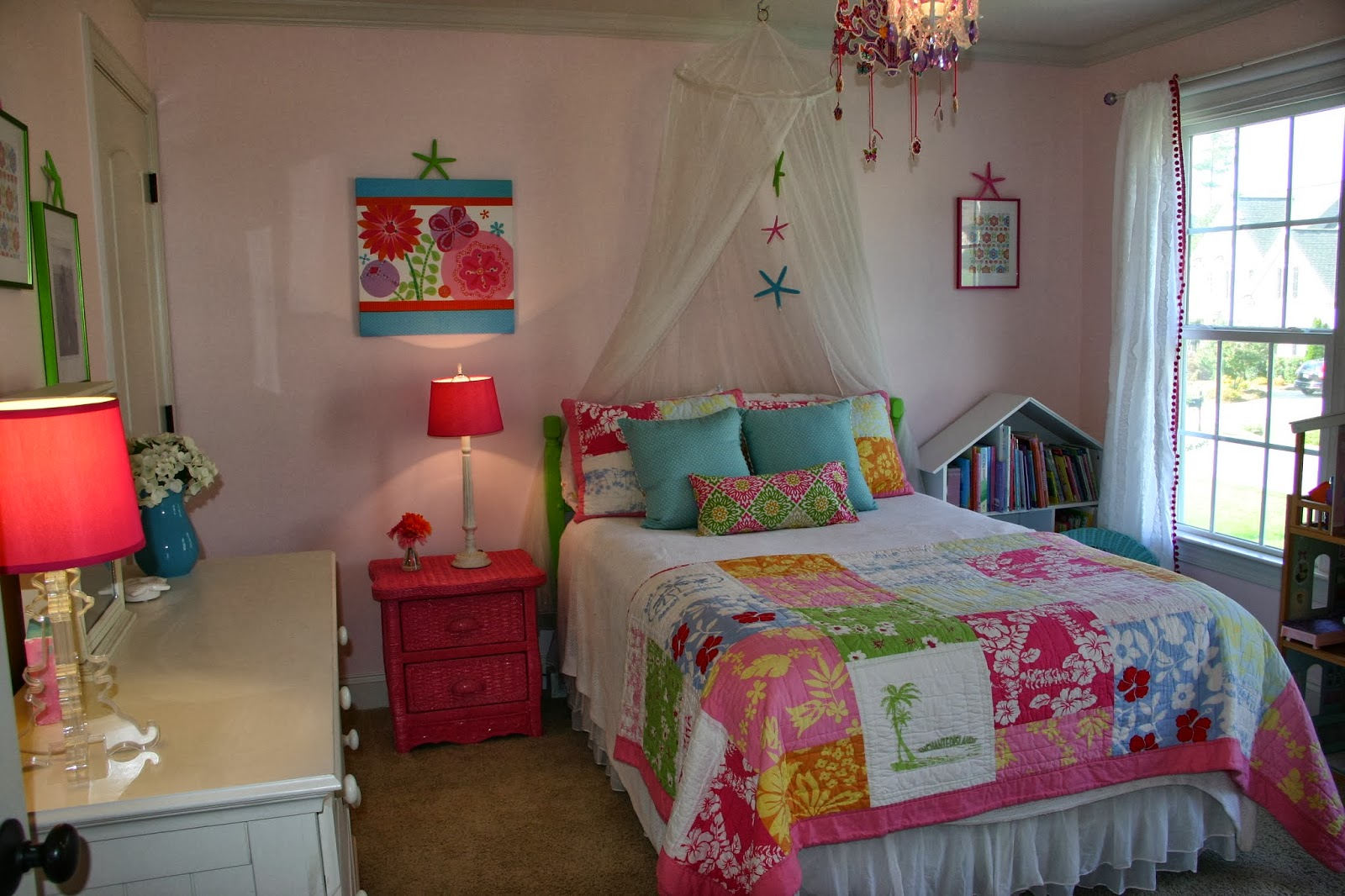 Cottage blue designs spiced up room for a sparkly girl for Older girls bedroom designs