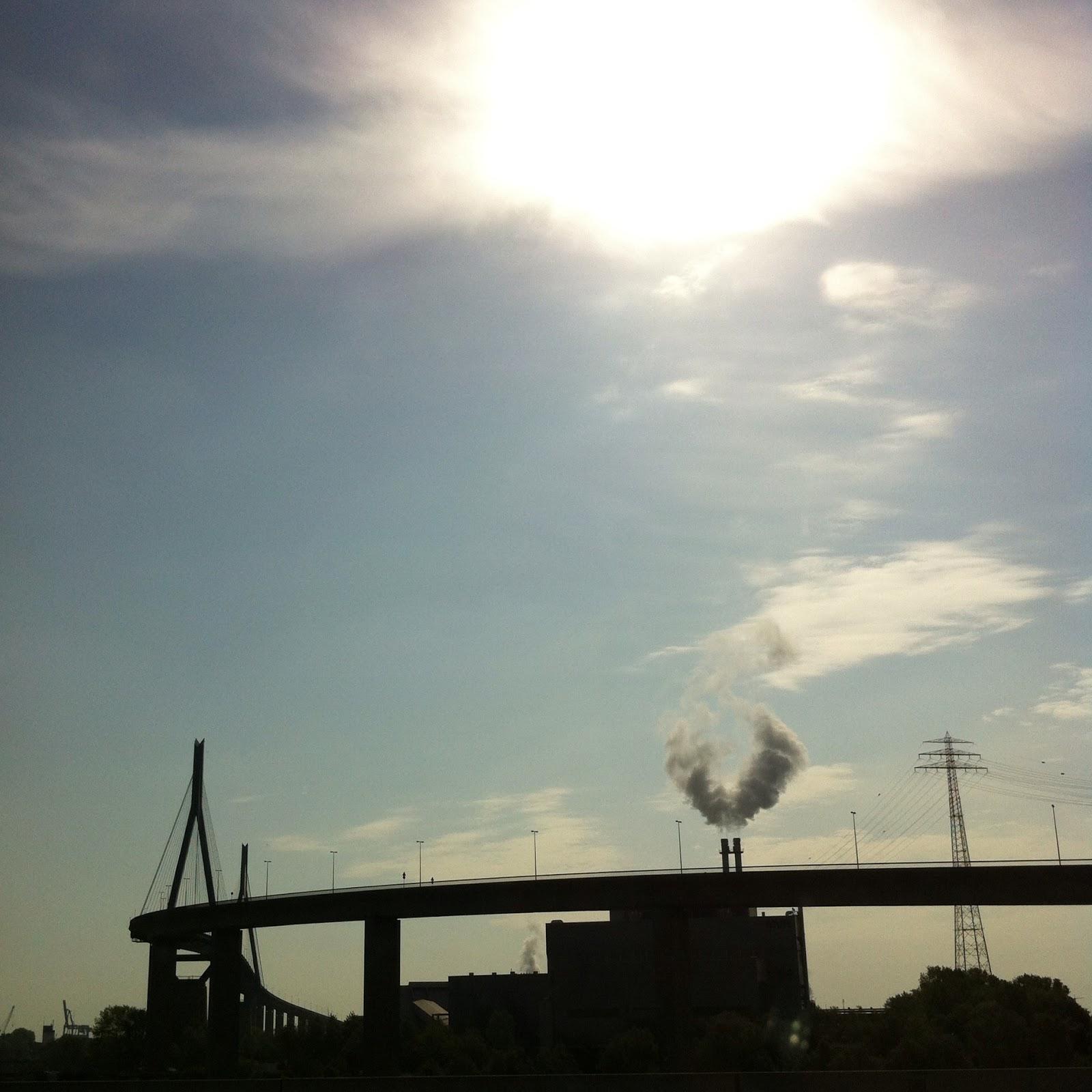 Hamburger Hafen Sonne Mai