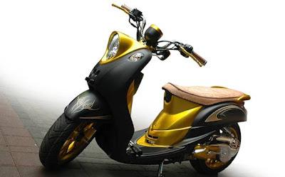 Modif batik Yamaha Fino modifikasi Fino