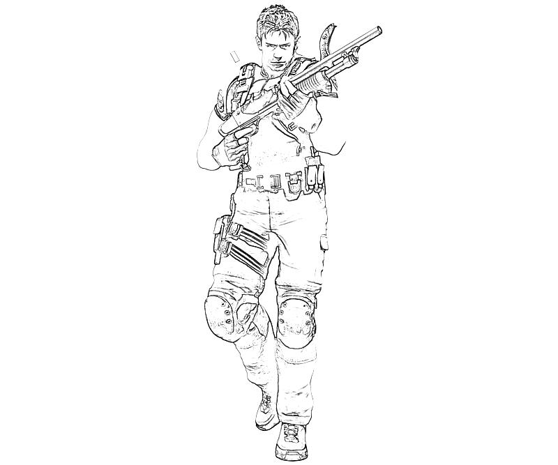 printable-marvel-vs-capcom-chris-redfield-armored_coloring-pages