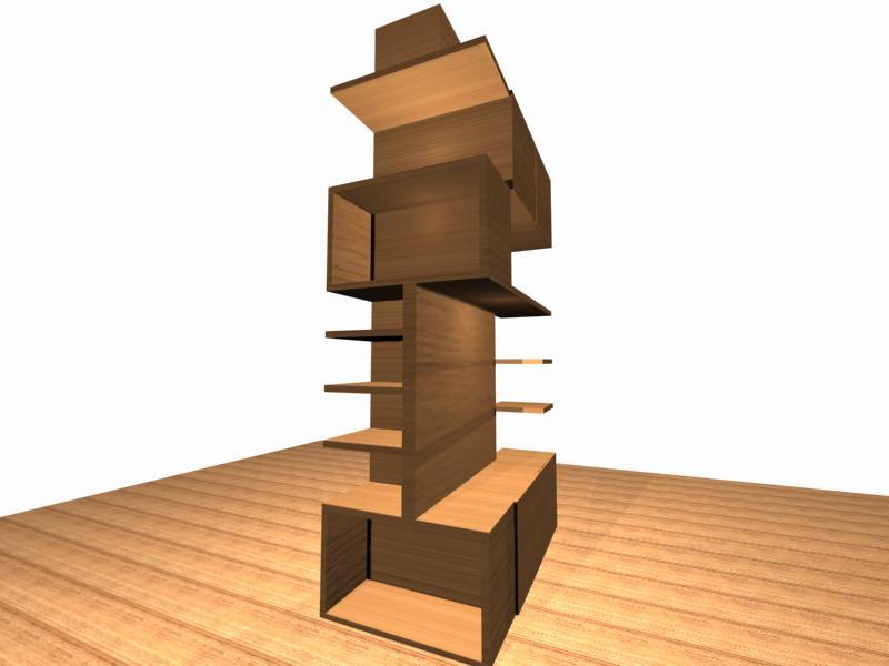 Diseño para un mueble en la columna