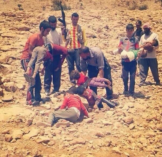 Victims of ISIS: dead Yazidi children