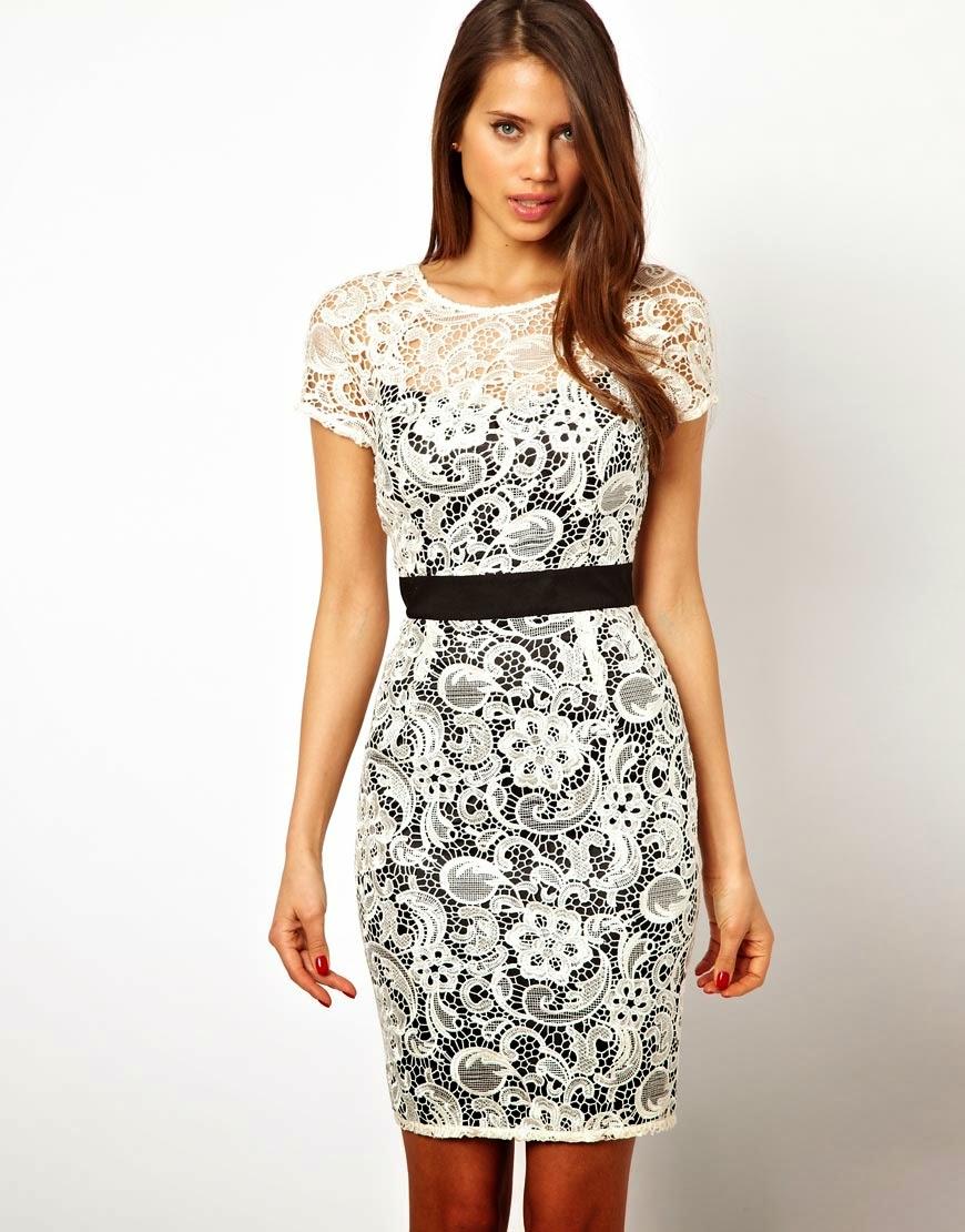 Incre 237 Bles Vestidos De Encaje Cortos Moda 2014