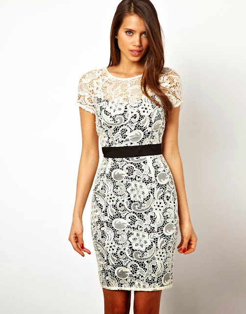vestidos de encaje cortos