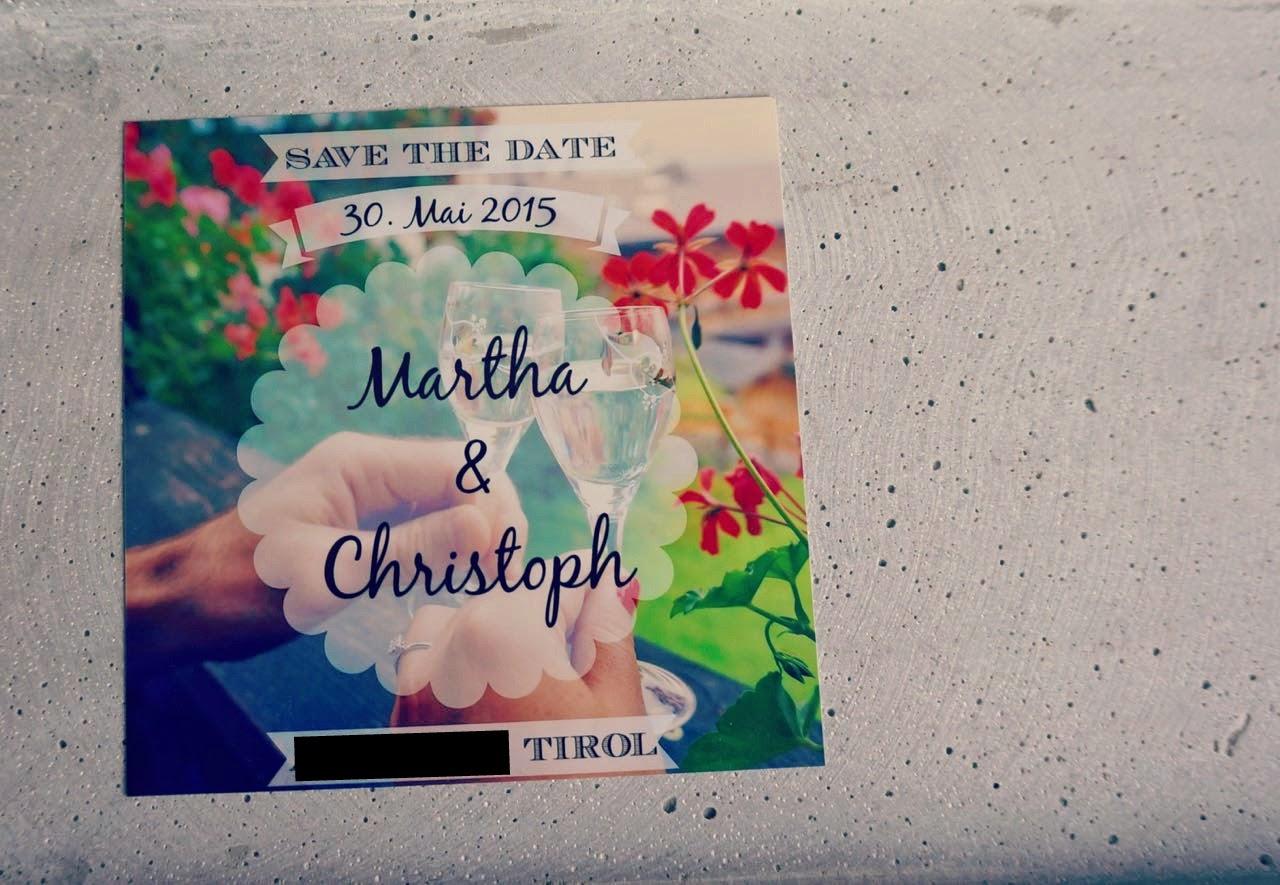 DIY Hochzeit Save the Date Karten