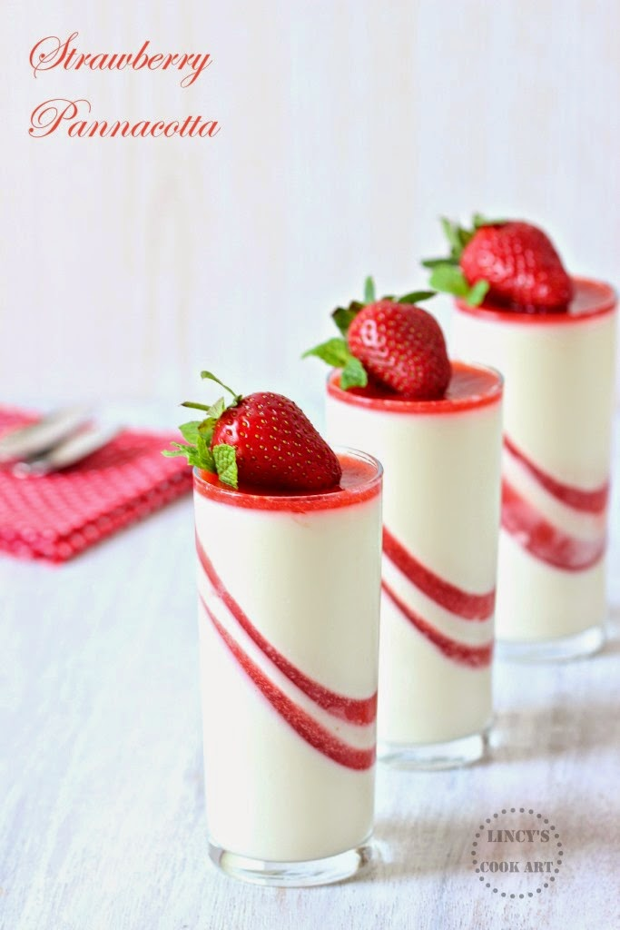 Strawberry and Vanilla Pannacotta