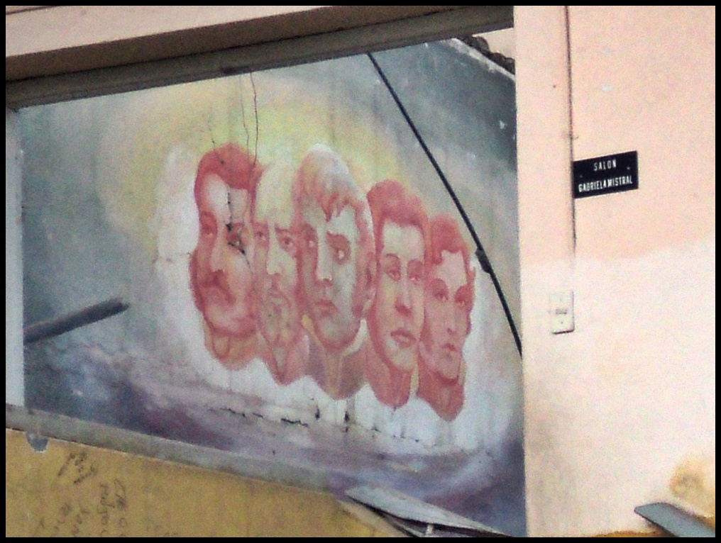 El mural de la ex biblioteca
