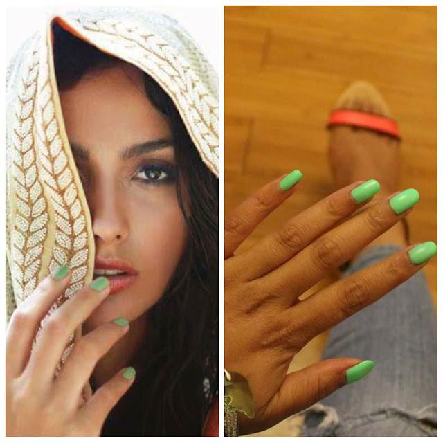 American Apparel Parakeet nail polish, Anamika Khanna mint green nail polish