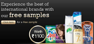 Get free sample worth Rs.1100 from P&G India