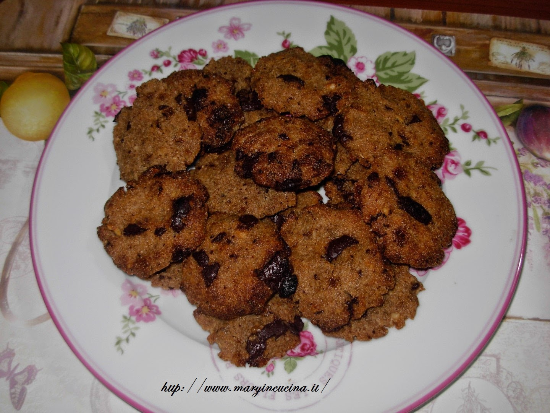 cookies di riso con cioccolato e sciroppo d'acero