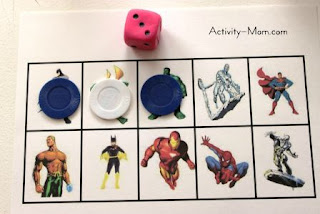 super hero grid game