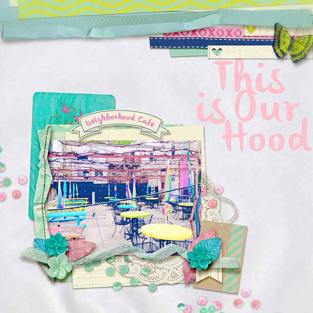 Weekend // Scrapbook Layout // Sweet Shoppe Designs Sugarbabe