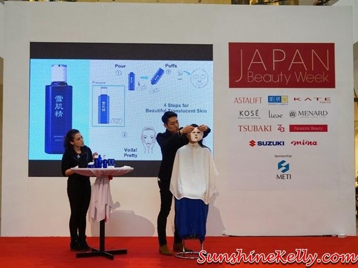 Kose, Kose Sekkisei, Kose Sekkisei Beauty Sharing with Mr Dobashi, Kose Japan, Sekkisei Lotion Mask, Beauty sharing, makeup, skincare, on stage