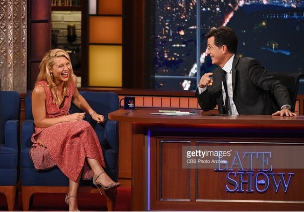 Claire Danes In Victoria Beckham - 'Late Show With Stephen Colbert'